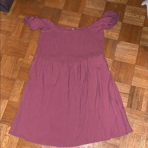 Mauve Off The Shoulder Dress